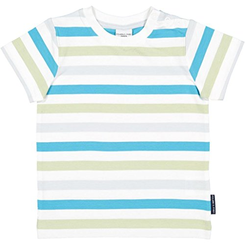 Polarn O. Pyret Multi Stripe ECO T (Baby) - 1-1.5 Years/Scuba Blue