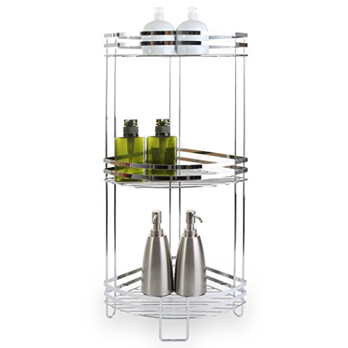 (BINO 'Lafayette' Chrome Corner Spa Tower, 3-Tier)