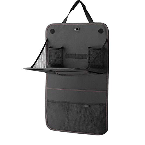 Weastion Factory Wholesale Car Storage Bag Seat Hanging Bag Multifunction Anti-dirty Sack Anti Kick Package Chair Back Storage Packet Car Finishing Bag Supplies Black Oxford Cloth (Color : One pack) - Factory Wholesale Handbag