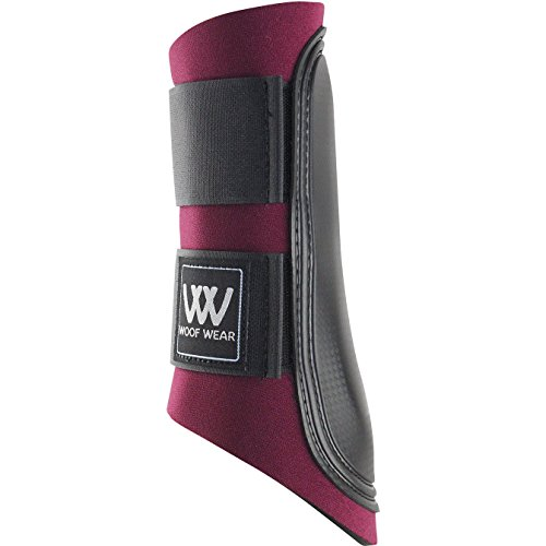 Woof Wear Club Brushing Boot Burgundy/Black Large