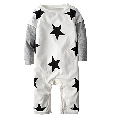 Big Elephant Unisex-baby 1 Piece Long Sleeve Romper Pajama J55