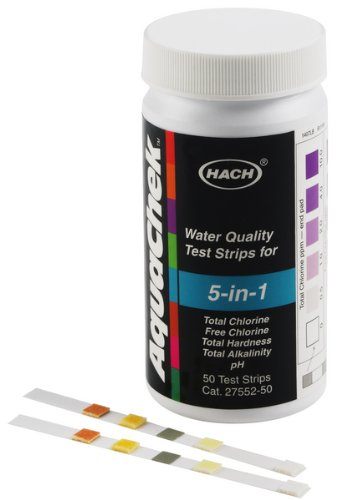 Hach Water Quality Test Strips (Hach AquaChek Dip-and-Read Water Quality Test Strips, Multiparameter. 5 Tests. Multirange 50/PK)