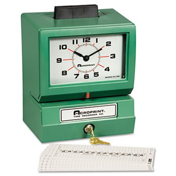 (Model 125 Analog Manual Print Time Clock With Month/Date/0-23 Hours/Minutes)