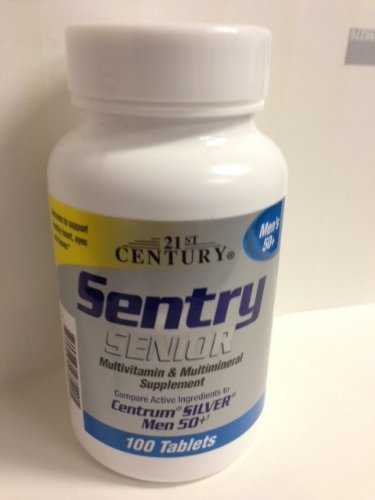 21st Century Sentry Senior Men 50+ Multivitamin & Multimineral Supplement 100 Tablets (Pack of 2) (Tab Senior 100 Multivitamins)