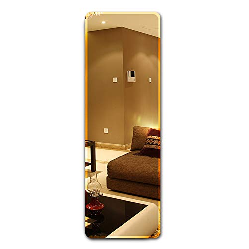 Full Length Rectangular Frameless Wall Mirror, 23x66 Inch Wall Mounted or Stickers -