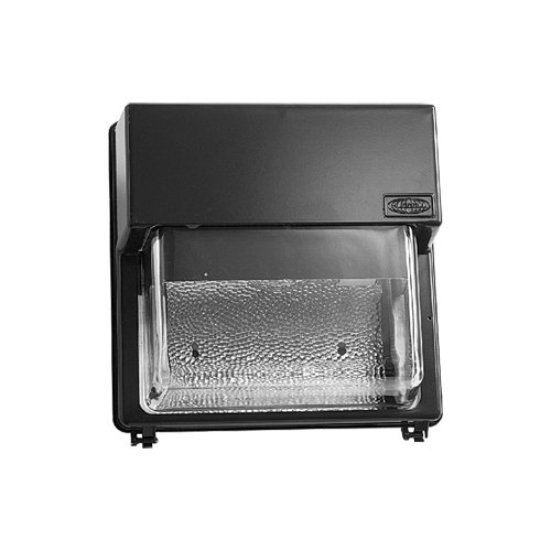 Hubbell Outdoor Lighting PGS-B250S-128-1 Perimashield PGSB 250W HPS Wallpack, Dark Bronze Finish with Borosilicate Glass Lens