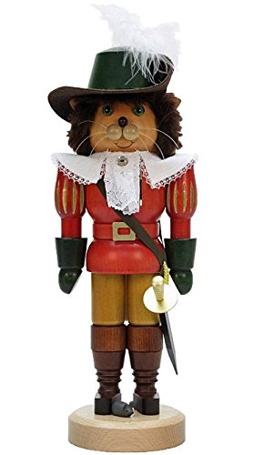 German Christmas Nutcracker Puss in Boots - 37,0cm / 14.6inch - Christian Ulbricht by Christian Ulbricht