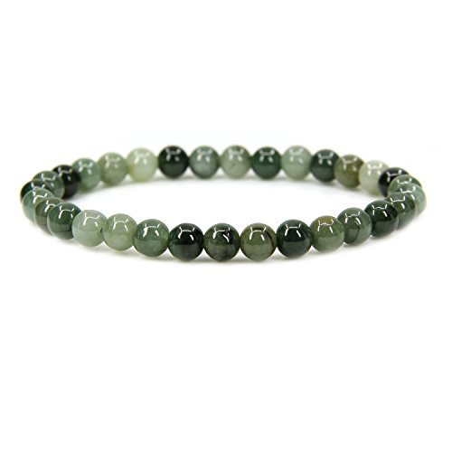 ade Gemstone 6mm Round Beads Stretch Bracelet 7