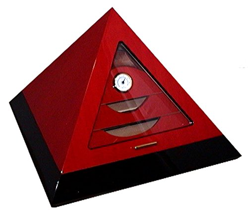 Le Veil 100ct Pyramid Humidor (Red) by Le Veil
