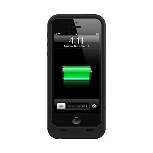 (mophie Juice Pack Air Protective Case for iPhone 5, 5S and 5SE, Black)