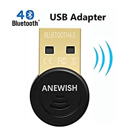 ANEWISH Bluetooth Adapter for PC, Desktop Laptop Tablet, USB Bluetooth 4.0 Dongle, Support all Windows Operating Systems, Win 10, 8.1, 8, 7, Vistar, XP