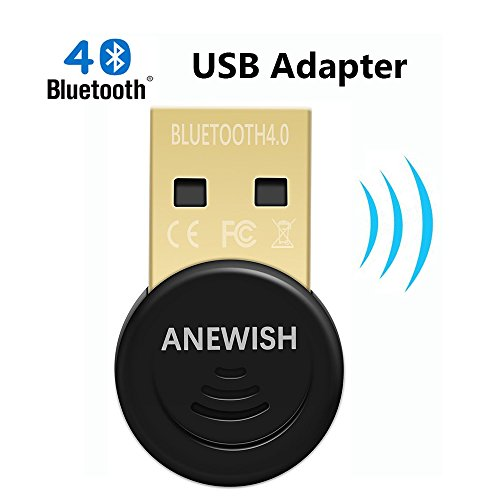 ANEWISH Bluetooth Adapter for PC, Desktop Laptop Tablet, USB Bluetooth 4.0 Dongle, Support all Windows Operating Systems, Win 10, 8.1, 8, 7, Vistar, XP (Bluetooth Dongle For Pc)