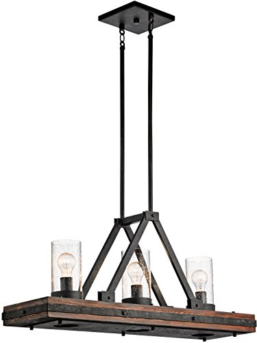(Kichler 43433AUB Colerne Linear Chandelier 6-Light, Auburn Stained Finish )