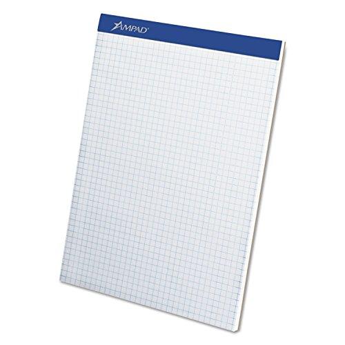 Ampad 20210 Quadrille Double Sheets Pad, 8 1/2 x 11 3/4, White, 100 (Ampad Quadrille Pad)