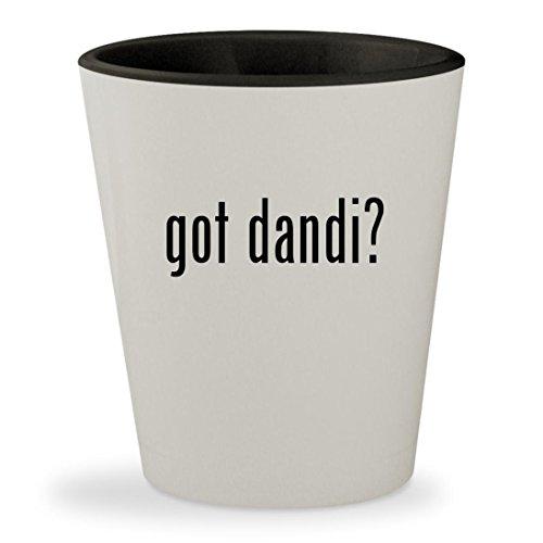got dandi? - White Outer & Black Inner Ceramic 1.5oz Shot Glass