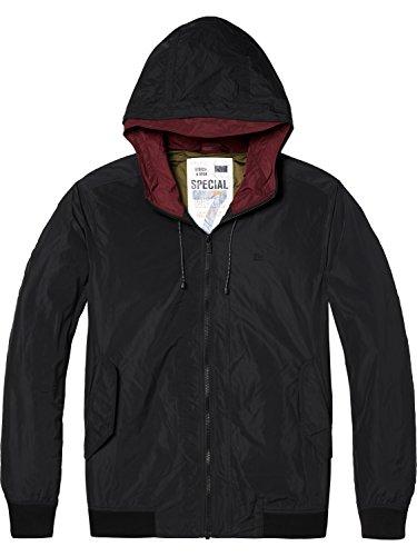 Jacket Hooded Nylon Soda black Scotch Short amp; 0008 Uomo Nero Giacca xPqIqwXt