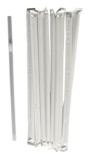 Giant Straws Individually Wrapped Crystalware