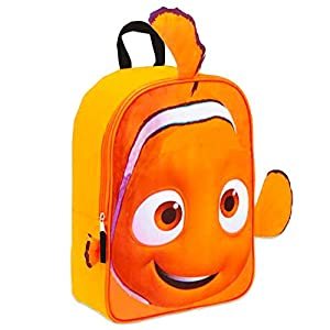 Disney Finding Nemo Toddler Preschool Backpack Set – Bundle Includes 11 Inch Finding Nemo Mini Backpack and Stickers (Finding Nemo School Supplies)