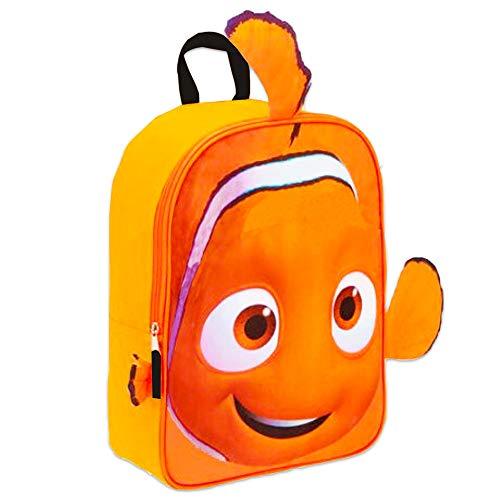 Disney Finding Nemo Toddler Preschool Backpack Set - Bundle Includes 11 Inch Finding Nemo Mini Backpack and Stickers (Finding Nemo School Supplies)