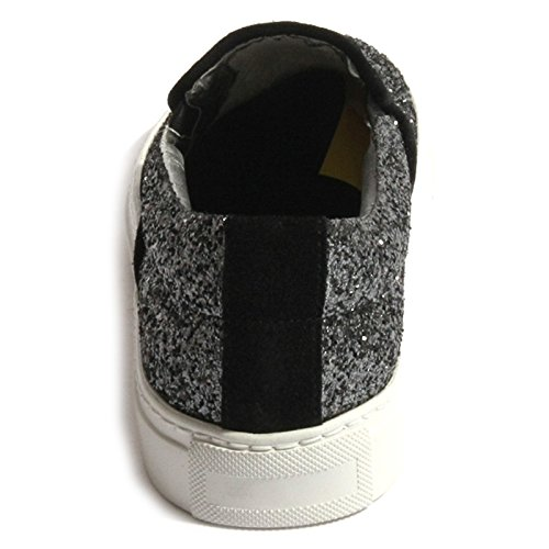 E5 B0417 scarpa P448 nera donna glitter scuro shoes SLIPON grigio women sneaker XqrrwFxt