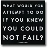What would you Attempt Black and White Magnet by Quotable Cards