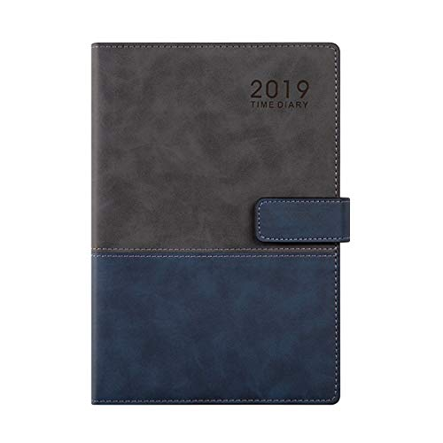 GuaziV Monthly Weekly Daily Productivity Planner 2019 HappinessGratitudeCalendarJournal Planner Daily Business Work Planner for Men Women (Blue) (Best Planners For Men)