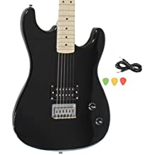 Black Full Size Electric Guitar With Cord And Picks By Davison