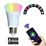 Smart Bulb for,Smart LED Night Light Bulbs,16 Million Multi-Color Dimmable,Work with Alexa,Wi-Fi Remote Control,7 Watts(60 Watts Equivalent),No Hub Need
