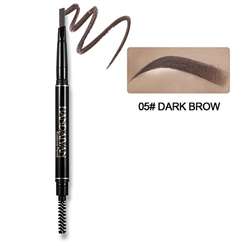 Black Brown Pencil For Women Double End Waterproof Henna Tattoo Brow Enhancer Ink Pen With Eyebrow Brush 5
