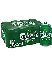 Carlsberg Green Label Can Beer, 320ml (Pack of 12)