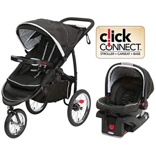 Graco FastAction Fold Jogger XT Travel System, Coconut (Graco Fastaction Infant Car Seat)