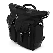 "Lencca Black 3 in 1 Universal Hybrid Tote Messenger Backpack for Apple iPad Pro / iPad Air / Microsoft Surface Pro 4 / Samsung Galaxy Note / TabPro S Fit Up to 12.2"" Tablets"