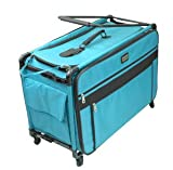 xl tutto sewing machine case - Tutto 9224TMA TURQUOISE Machine on Wheels Case, 25 by 18.5 by 13, Turquoise