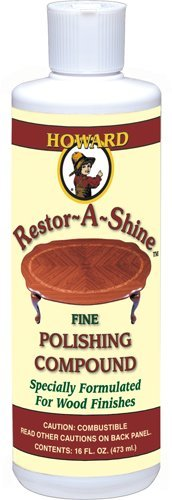 Howard PC0016 Restor-A-Shine Fine Polishing Compound for Wood Finishes, 16-Ounces