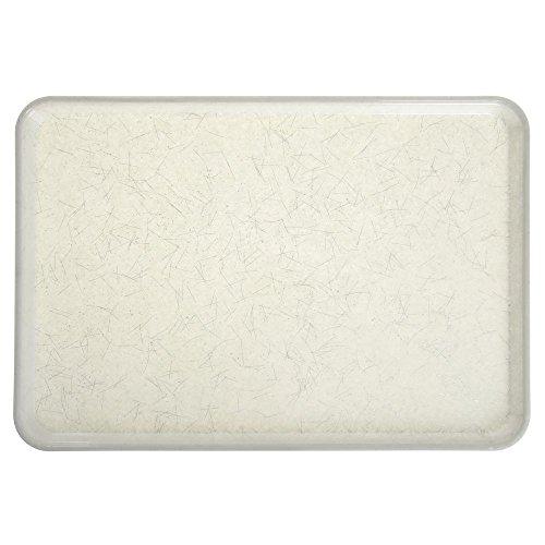 (Cambro Camtray Rectangular Silver Antique Parchment Fiberglass Tray - 26