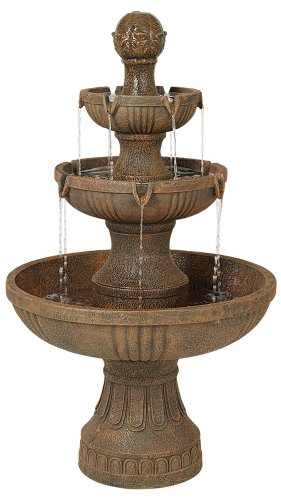 Solar Lighted Bird Bath Fountain in US - 2