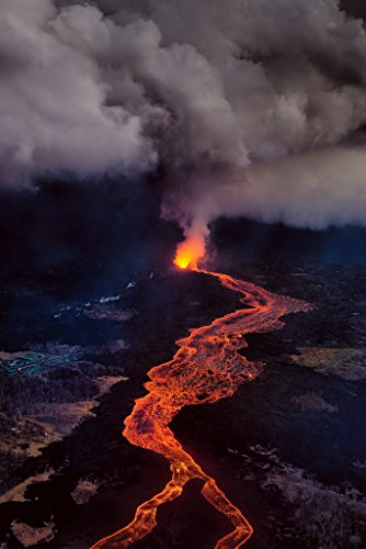 'Tempest' Kilauea East Rift Zone 2018 lava Eruption, Hawaii Island - large unframed original print direct from Big Island photographer Harry Durgin by Tanglewood Gallery