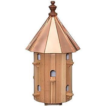 Amazon Com Cedar 10 Hole Round Birdhouse With High