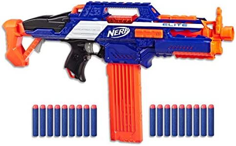 Nerf Elite Rapidstrike Cs 18 Motorised Rapid Fire Blaster Inc 18 Official Darts And Clip Kids Toys Outdoor Play Ages 8 Amazon Com Au Toys Games