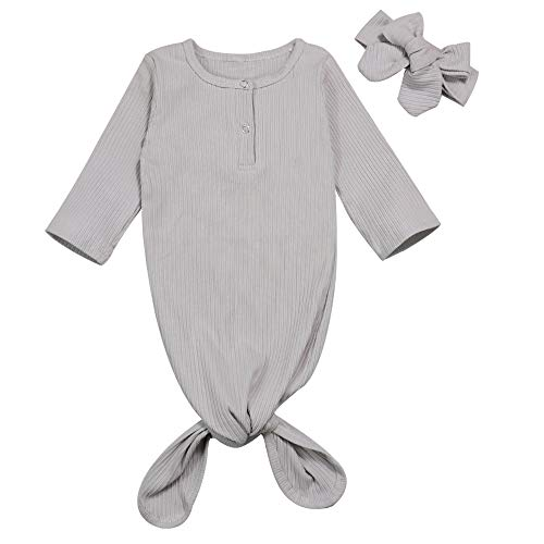 - Funny Newborn Baby Gown Layette Baby Boy Girl Sleepwear Soft Sleepers Coming Home Outfits (Gray-d, 0-6months)