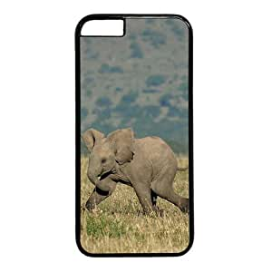 Running Elephant Theme Case for iphone 5c PC Material Black