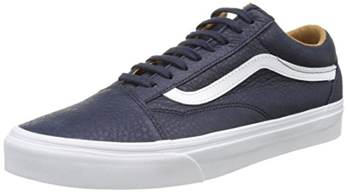 Vans UA Old Skool, Scarpe da Ginnastica Basse Uomo Blu (Premium Leather Parisian Night/True White)