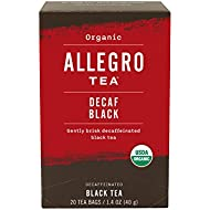 Allegro Tea, Organic Decaf Black Tea Bags, 20 ct
