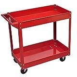 Workshop Tool Trolley 220 lbs. Red Trolley Trolley Cart Dimensions: 2' 9'' x 1' 4'' x 2' 7''