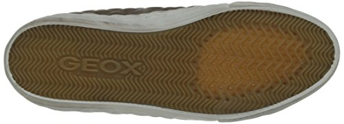Geox D WINTER CLUB B - Pantuflas de caña alta de material sintético mujer marrón - Braun (TAUPE C6029)