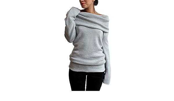 d826cc1960c Suvotimo Women Elegant Casual Boatneck Fleece Thick Hoodie Sweater  Sweatshirts Top at Amazon Women s Clothing store
