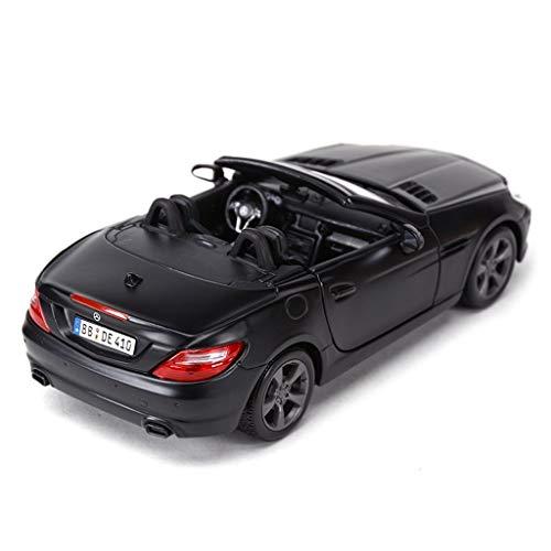 Slk Roadster - LICCC Mercedes SLK Roadster Scale Model Car in Balck - Die Cast Alloy Model Car Toy Collection - L 7.5inch/19cm 1:24 Scale