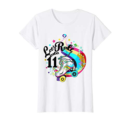 11 Year Old Birthday Shirt Girl Roller Skate Unicorn Outfit ()