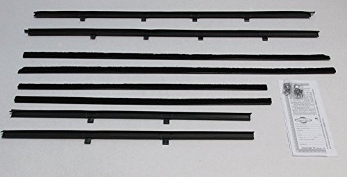 Repops Automotive Reproductions Window Sweeps Felt Kit Weatherstrip For 1961-1964 Chevy Bel Air/Biscayne Sedan