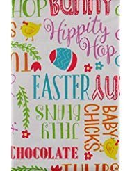 (Easter Words and Phrases Vinyl Flannel Back Tablecloth (52